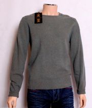 HOLLAND ESQUIRE HAND CUSTOMISED 100% LAMBSWOOL Crew Neck Jumper Sweater MED BNWT